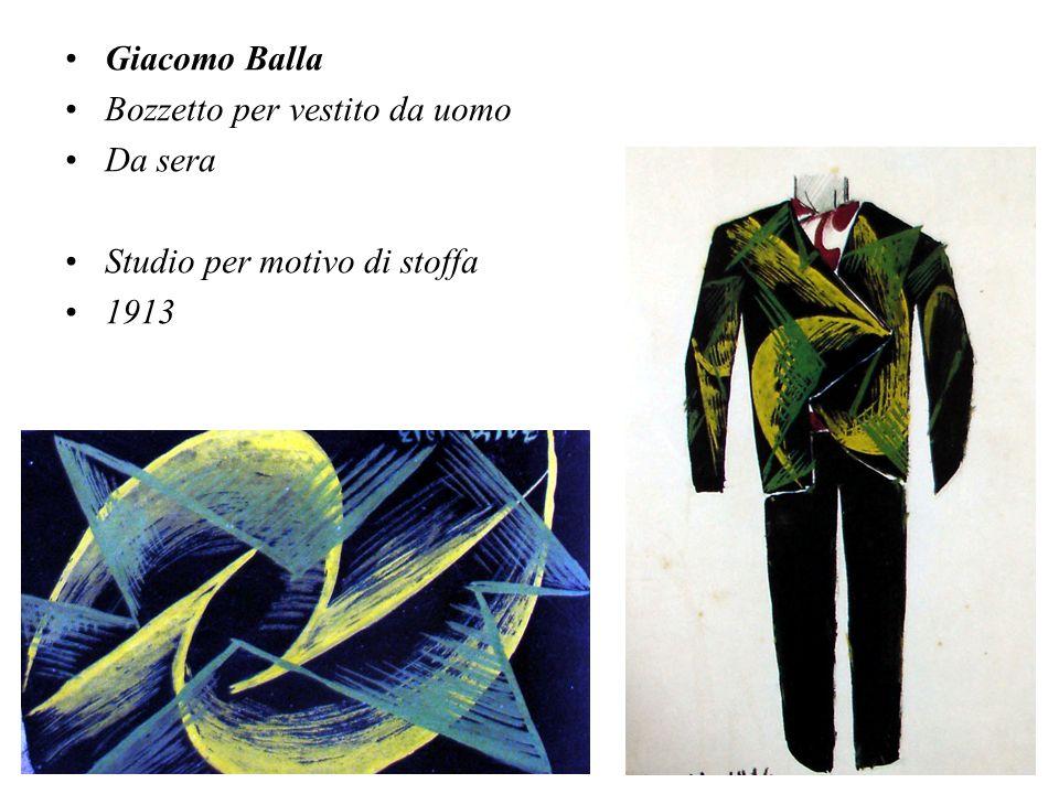 Giacomo Balla Bozzetto per vestito da uomo Da sera Studio per motivo di stoffa 1913