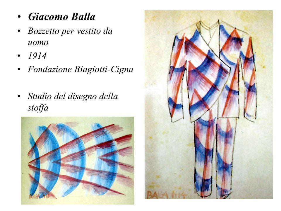 Giacomo Balla Bozzetto per vestito da uomo 1914 Fondazione Biagiotti-Cigna Studio del disegno della stoffa