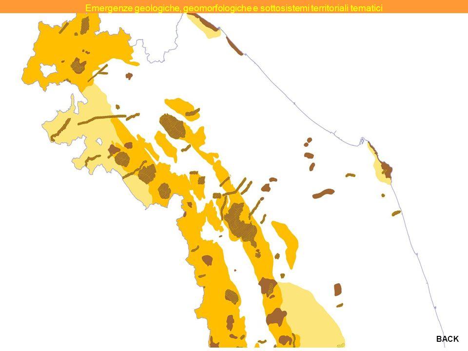 MARCHE Emergenze geologiche, geomorfologiche e sottosistemi territoriali tematici BACK