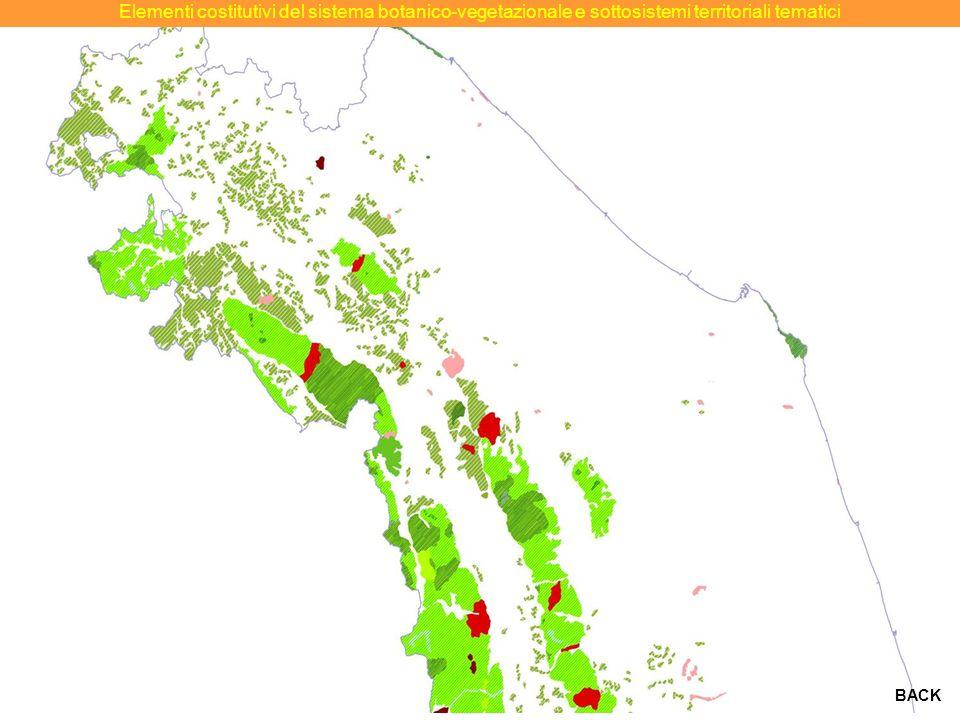 MARCHE Elementi costitutivi del sistema botanico-vegetazionale e sottosistemi territoriali tematici BACK