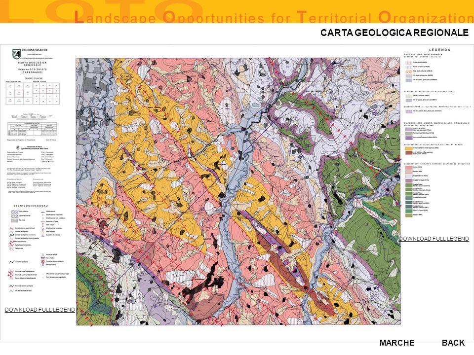 MARCHE CARTA GEOLOGICA REGIONALE BACK DOWNLOAD FULL LEGEND