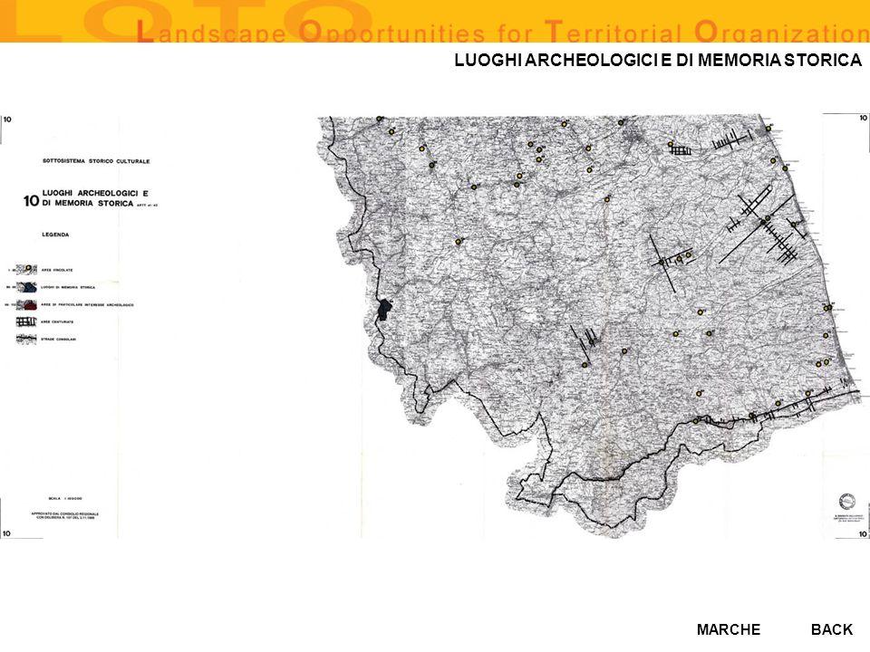 MARCHE LUOGHI ARCHEOLOGICI E DI MEMORIA STORICA BACK