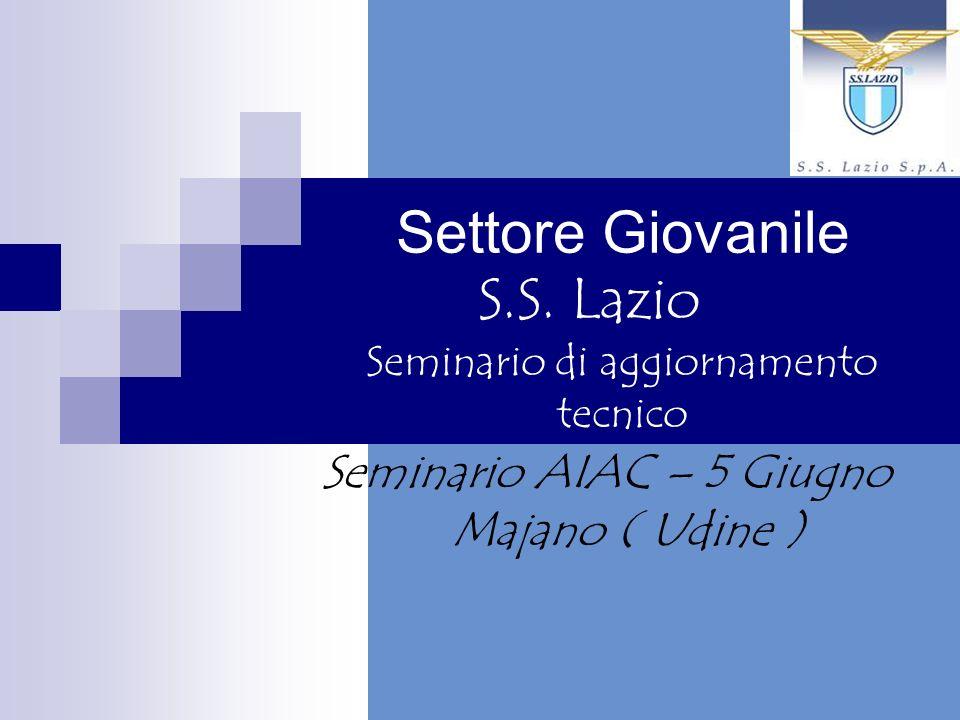 Settore Giovanile S.S. Lazio Seminario di aggiornamento tecnico Seminario AIAC – 5 Giugno Majano ( Udine )