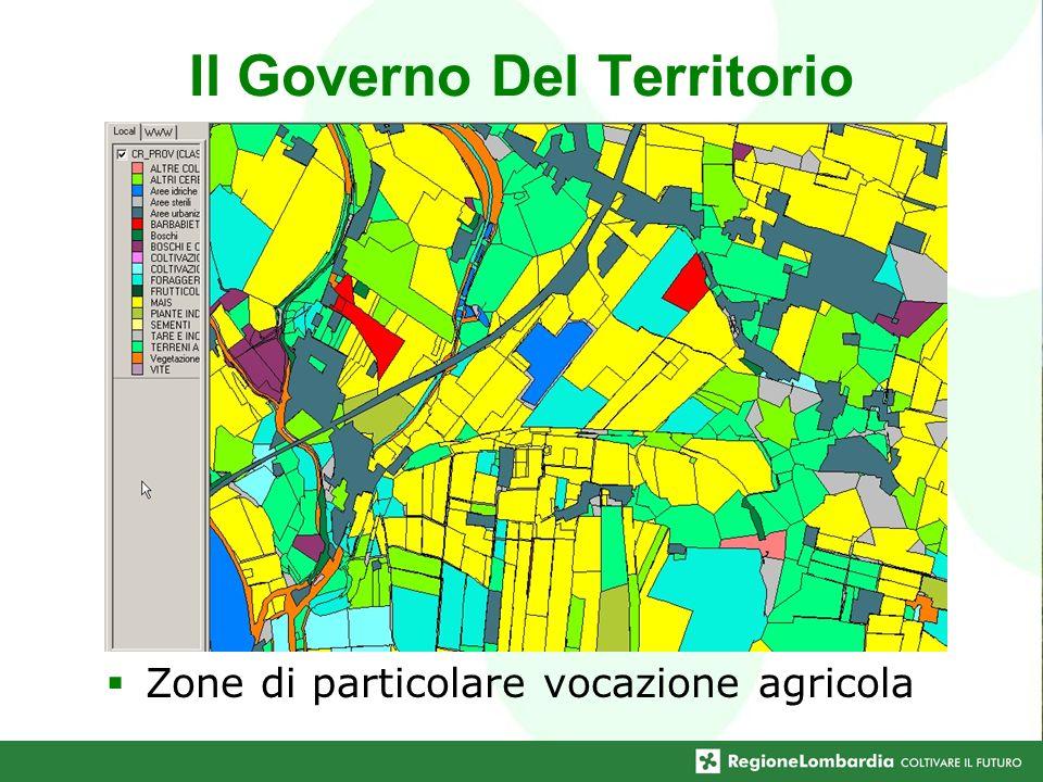 Il Governo Del Territorio Zone di particolare vocazione agricola