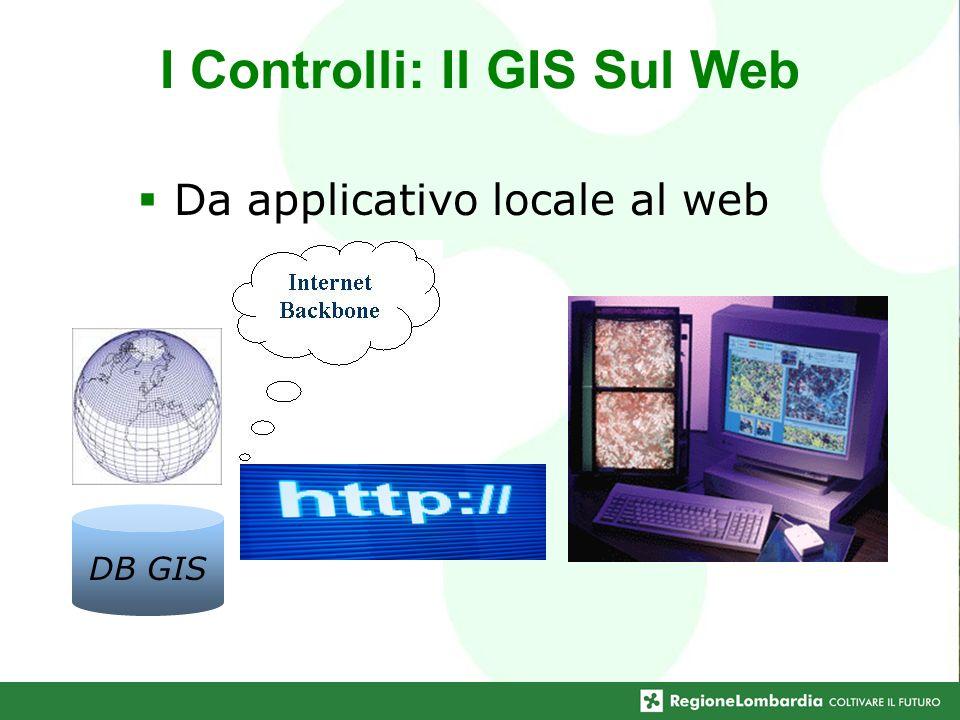 I Controlli: Il GIS Sul Web Da applicativo locale al web DB GIS