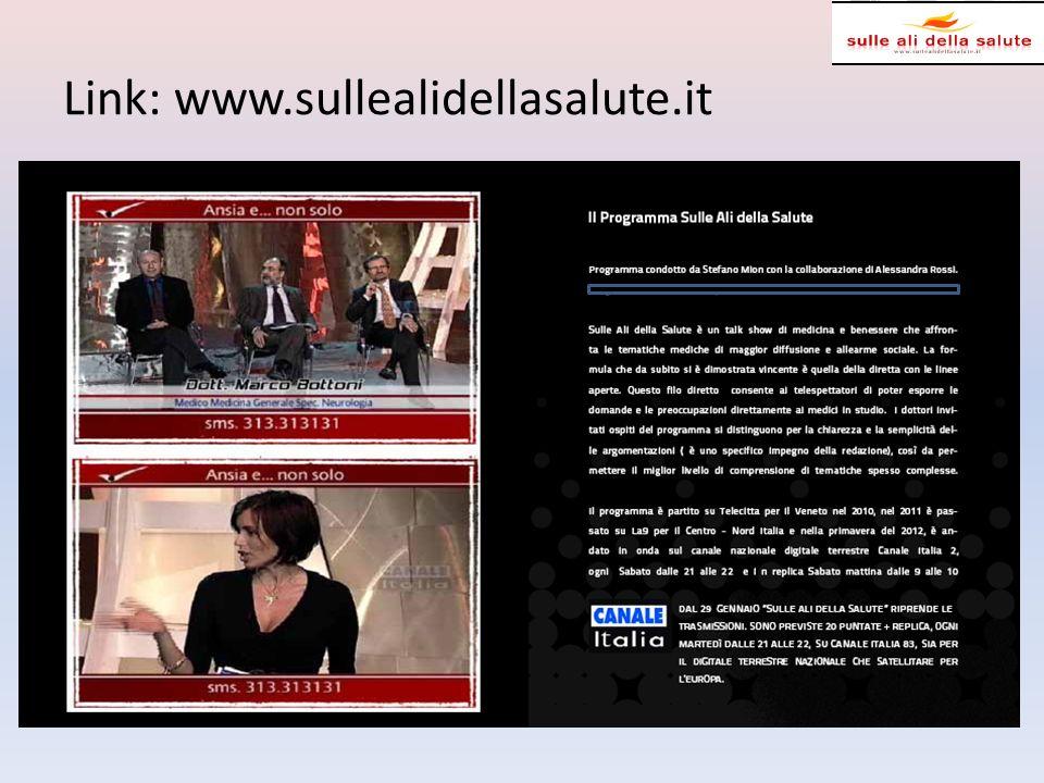 Patrocinio: FIMMG; ISS Media partner: Adnkronos salute; TopSalute; Canale Italia