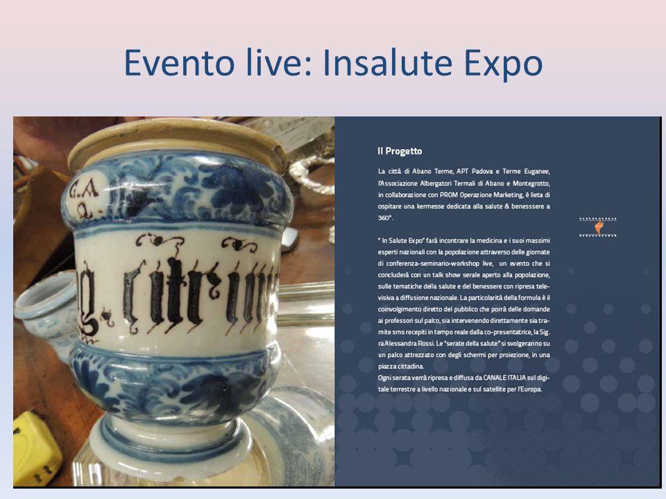 Programma preliminare InSalute Expo sarà trasmesso su Canale Italia 135 sia sul digitale terrestre sia satellitare per lEuropa