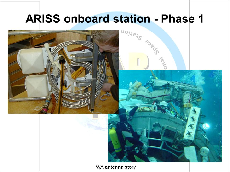 ARISS onboard station - Phase 1 WA antenna story