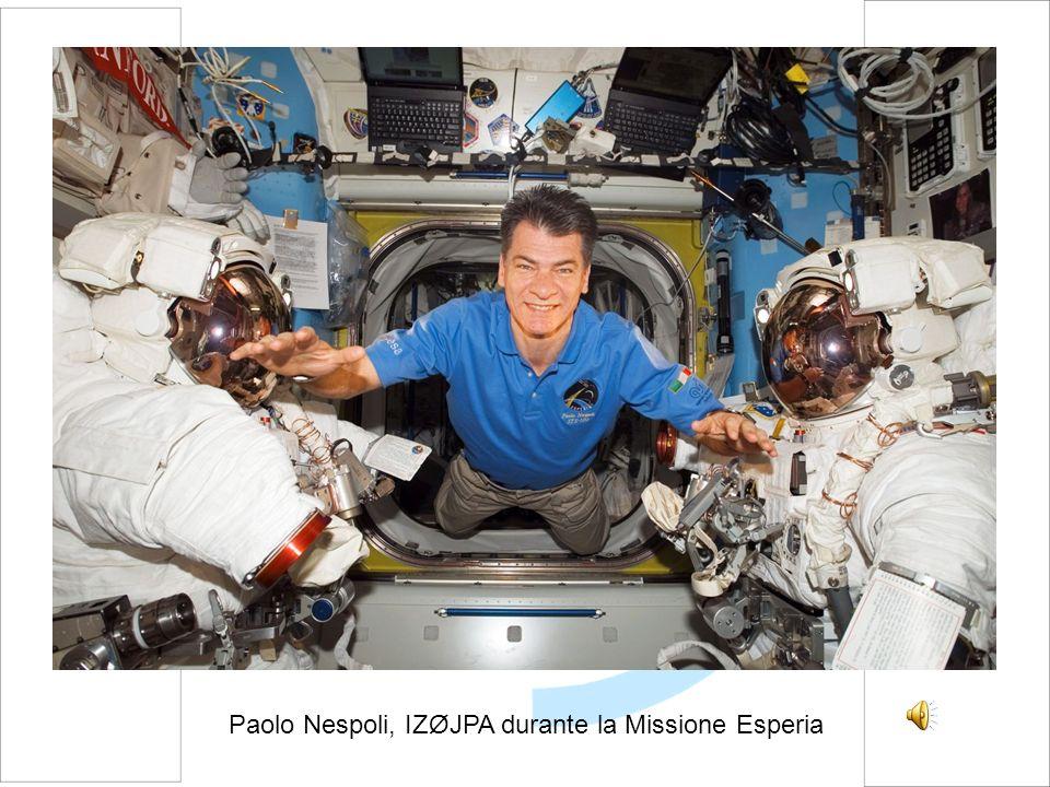 Paolo Nespoli, IZØJPA durante la Missione Esperia