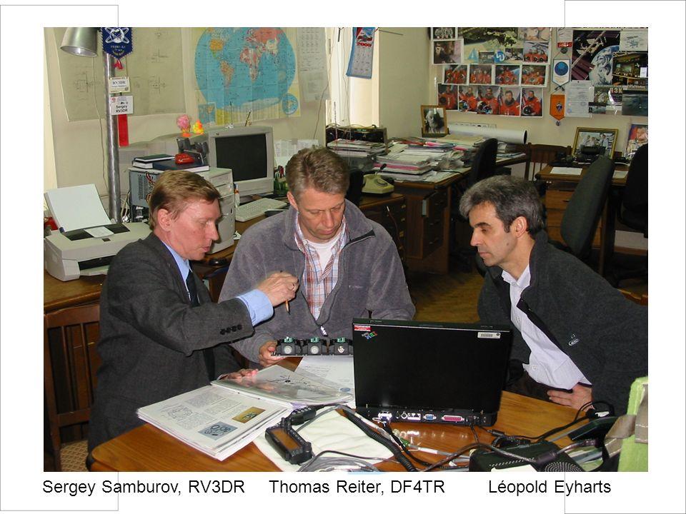 Sergey Samburov, RV3DR Thomas Reiter, DF4TR Léopold Eyharts