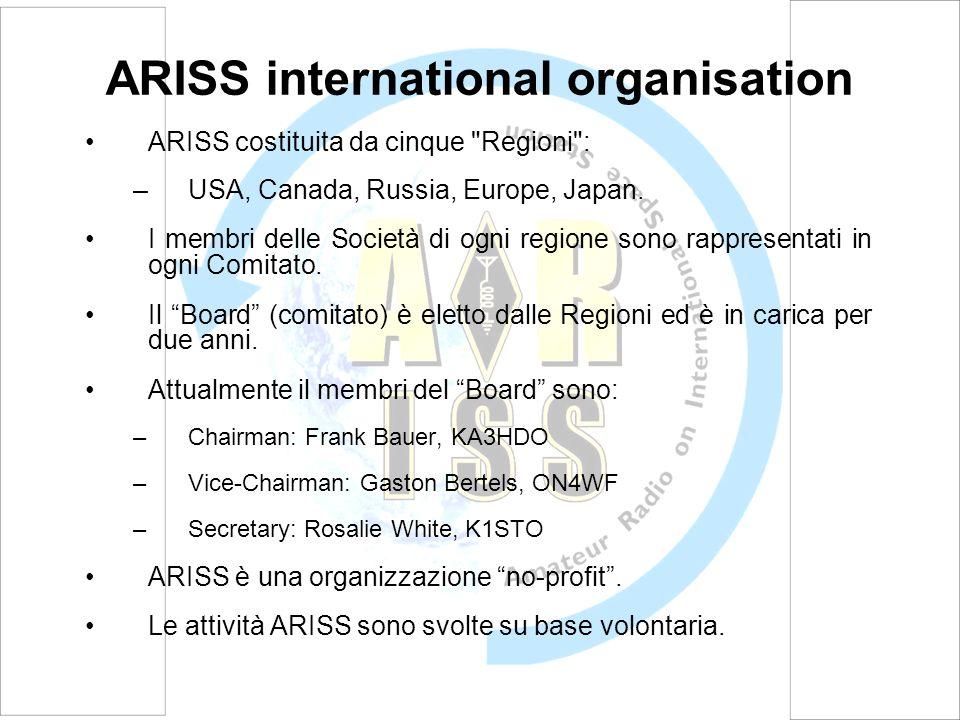 ARISS-Europe ARISS-Europe è la branca europea di ARISS International.