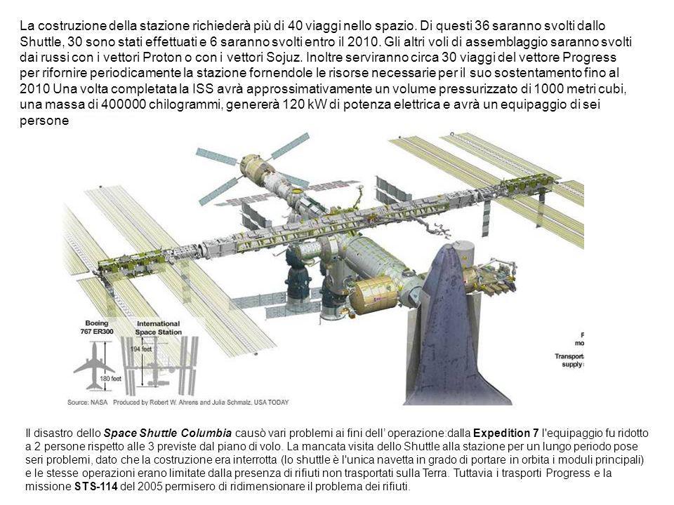 La costruzione della stazione richiederà più di 40 viaggi nello spazio.