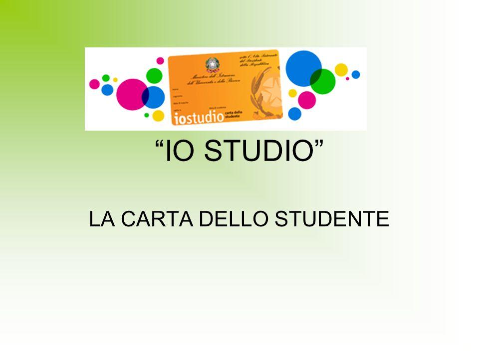 IO STUDIO LA CARTA DELLO STUDENTE