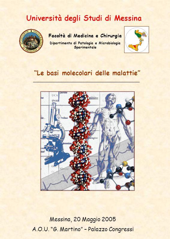 Università degli Studi di Messina Le basi molecolari delle malattie Messina, 20 Maggio 2005 A.O.U.