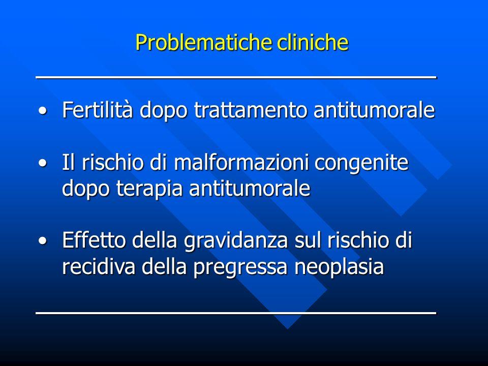 Fertilità dopo trattamento antitumoraleFertilità dopo trattamento antitumorale Il rischio di malformazioni congenite dopo terapia antitumoraleIl risch