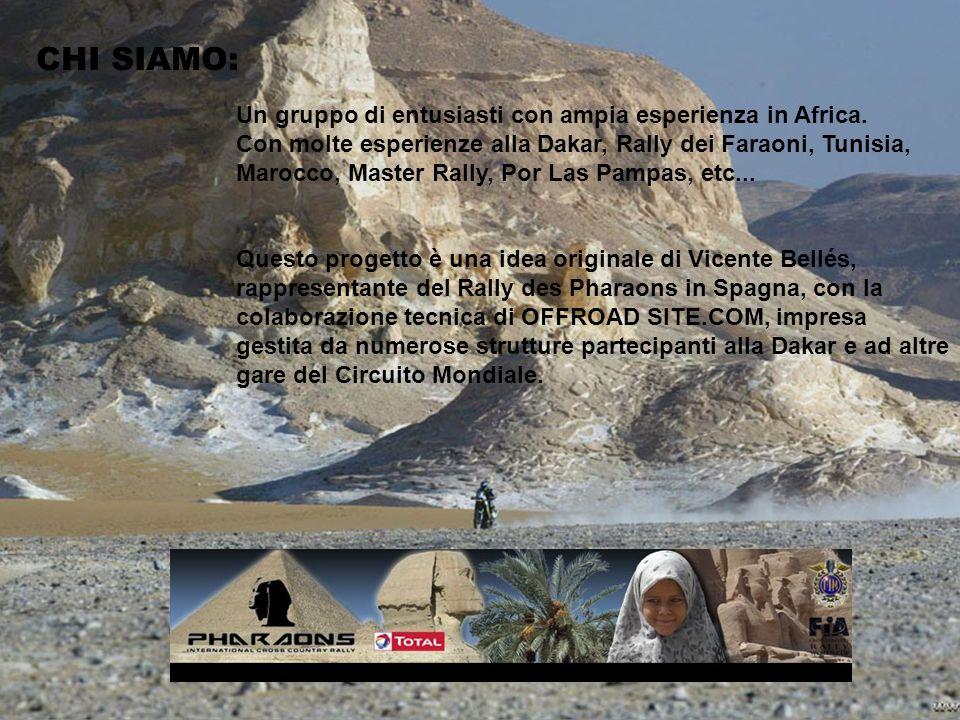 CHI SIAMO: Un gruppo di entusiasti con ampia esperienza in Africa.