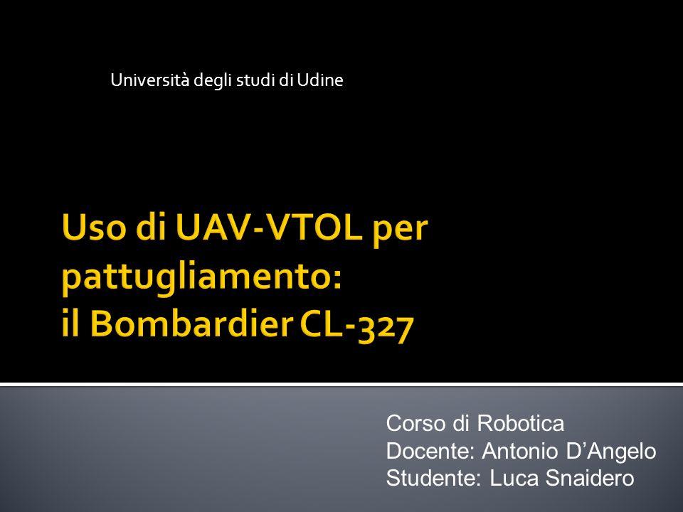 Università degli studi di Udine Corso di Robotica Docente: Antonio DAngelo Studente: Luca Snaidero