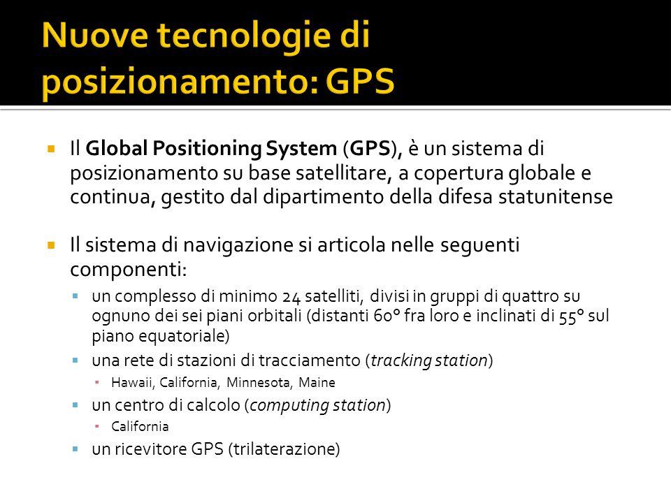 Il Global Positioning System (GPS), è un sistema di posizionamento su base satellitare, a copertura globale e continua, gestito dal dipartimento della