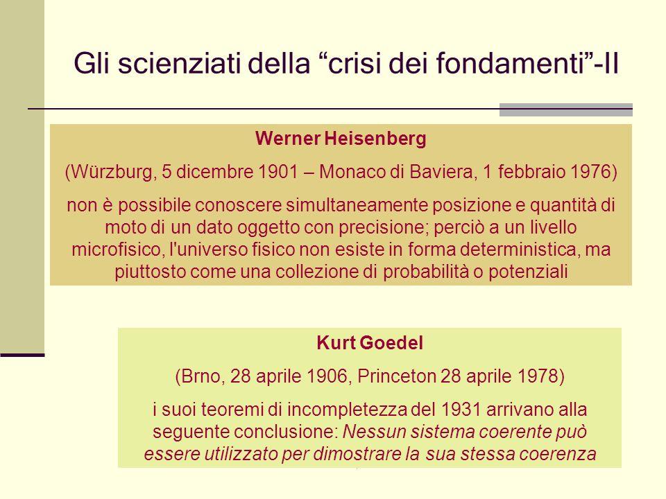 Giovanni Cominelli, 4 febbraio 2008 Gli scienziati della crisi dei fondamenti-II Werner Heisenberg (Würzburg, 5 dicembre 1901 – Monaco di Baviera, 1 f