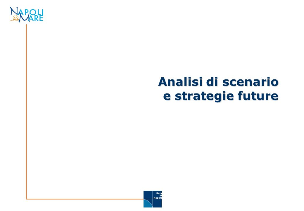Analisi di scenario e strategie future