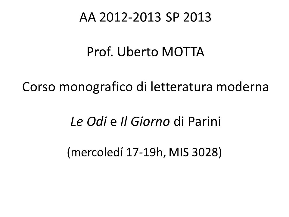 G.Parini, Al Padre D.