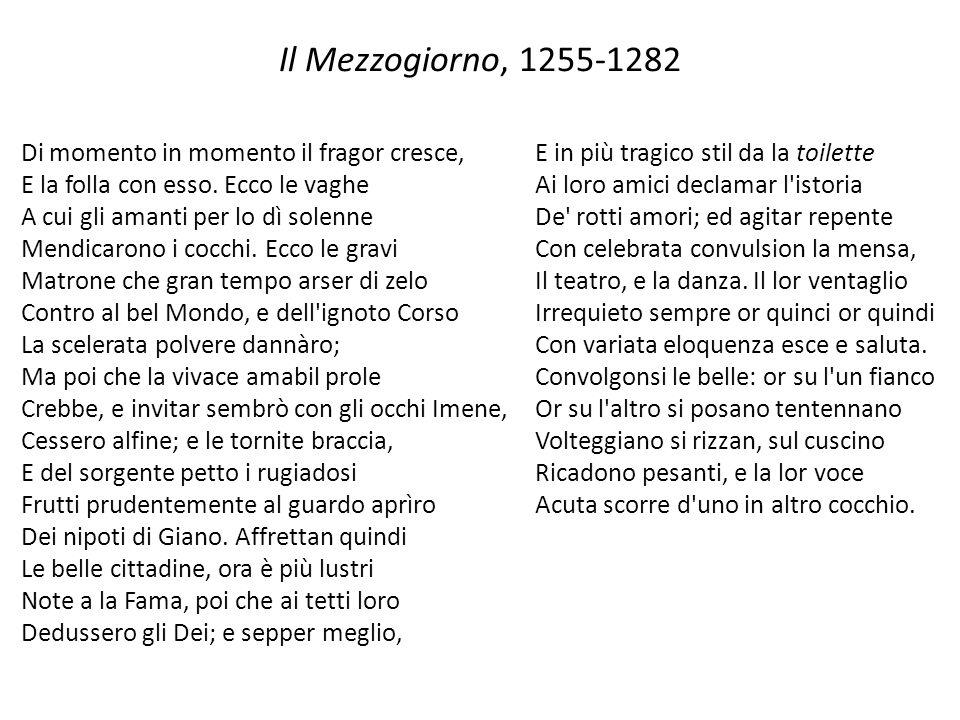 Il Mezzogiorno, 1255-1282 Di momento in momento il fragor cresce, E la folla con esso.