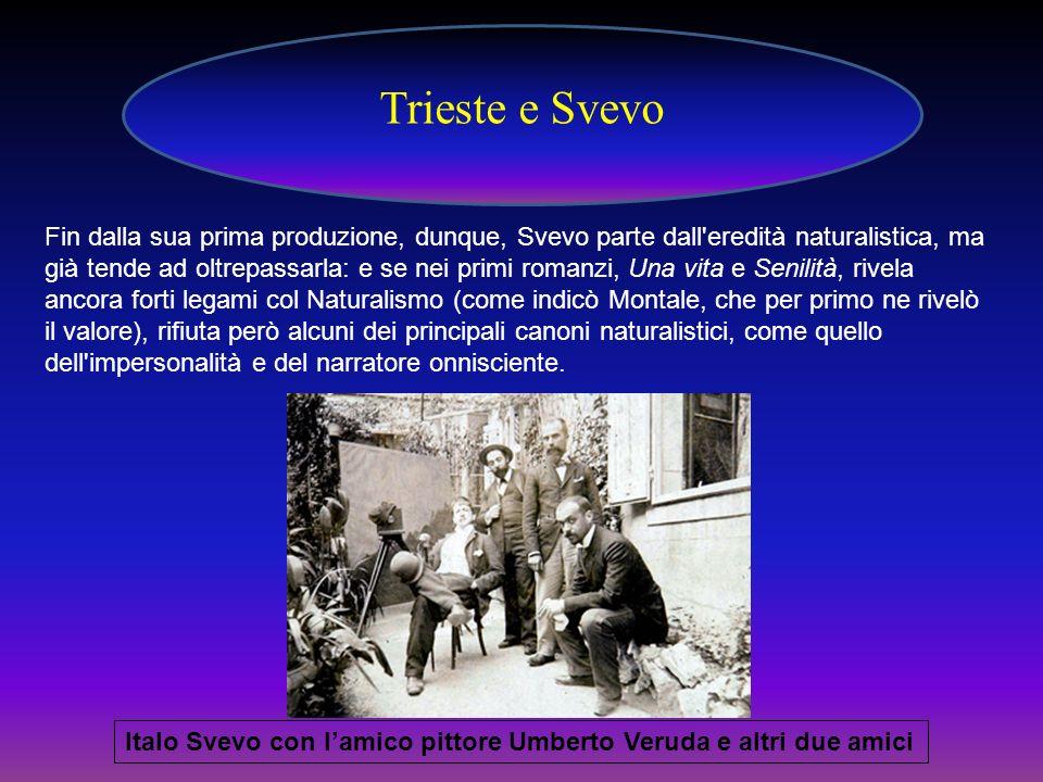 Trieste e Svevo Italo Svevo con lamico pittore Umberto Veruda e altri due amici Fin dalla sua prima produzione, dunque, Svevo parte dall'eredità natur