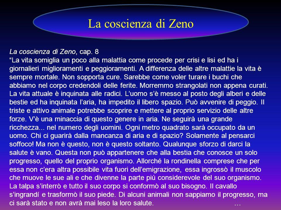. La coscienza di Zeno, cap. 8 La vita somiglia un poco alla malattia come procede per crisi e lisi ed ha i giornalieri miglioramenti e peggioramenti.