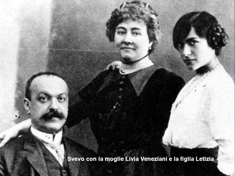 Svevo con la moglie Livia Veneziani e la figlia Letizia