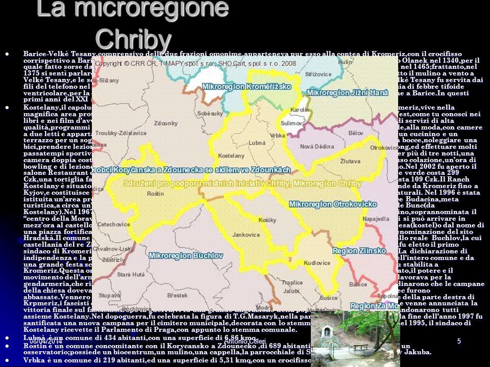 08/04/2014Antonio Celeri4 La microregione Jizni Hana per quanto attiene allokres Kromeriz Brest è un comune di 933 abitanti sparsi in una superficie d