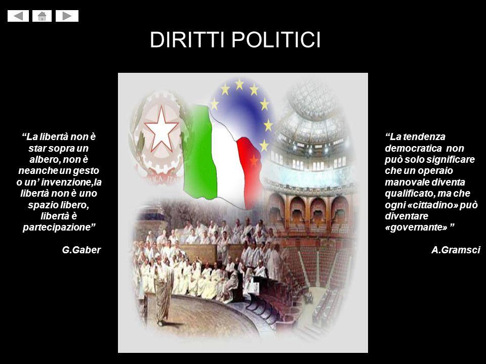 DIRITTI POLITICI La tendenza democratica non può solo significare che un operaio manovale diventa qualificato, ma che ogni «cittadino» può diventare «