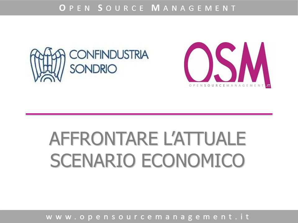 O pen S ource M anagement www.opensourcemanagement.it T utto parte dal… Marketing !