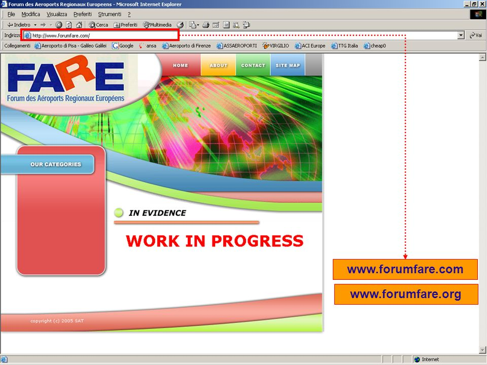 Industria dellospitalità si confronta su nuovi scenari – Grado 20 Giugno 2005 Pisa International Airport 41 www.forumfare.com www.forumfare.org