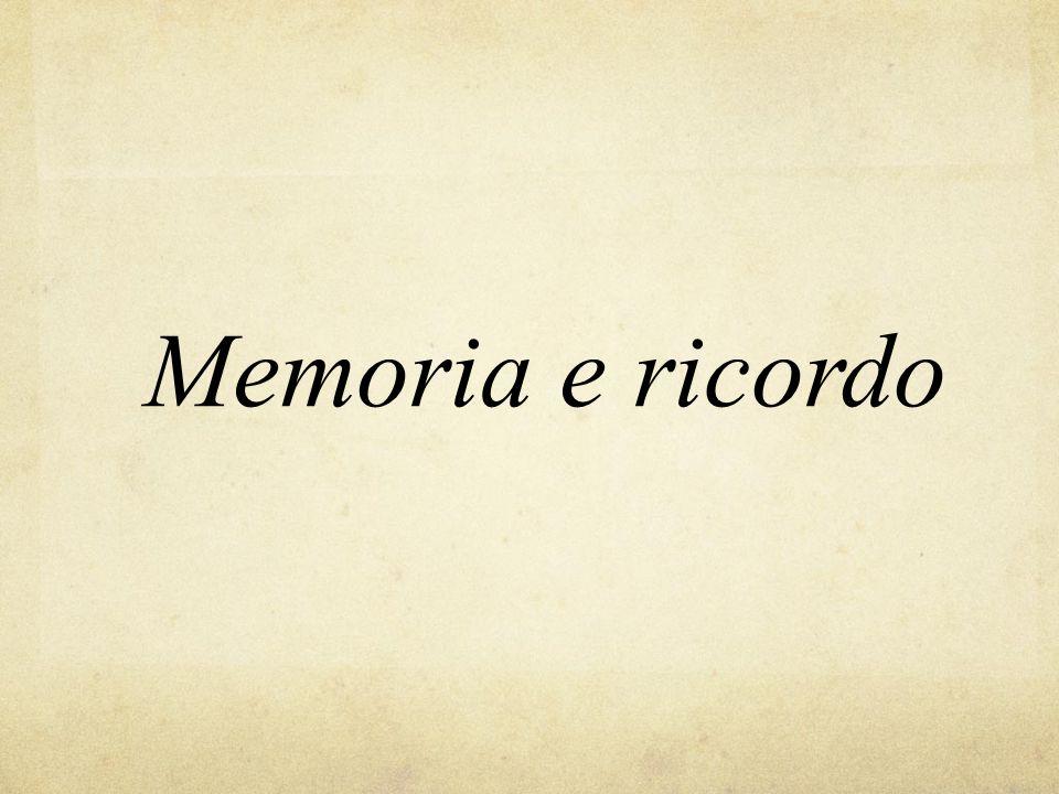 Memoria e ricordo