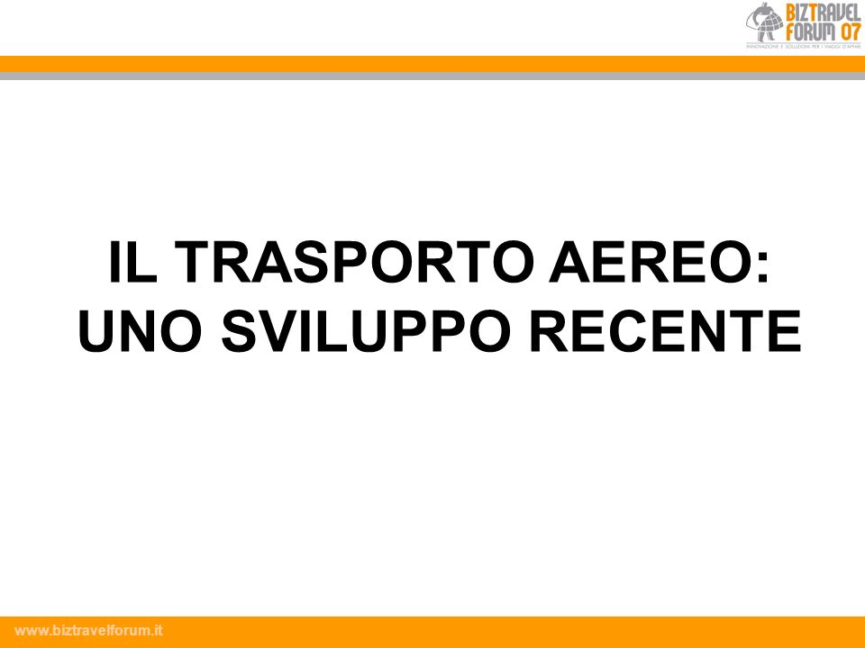 www.biztravelforum.it Costo operativo per posto Il Trasporto ferroviario è più efficiente per le rotte a breve raggio.