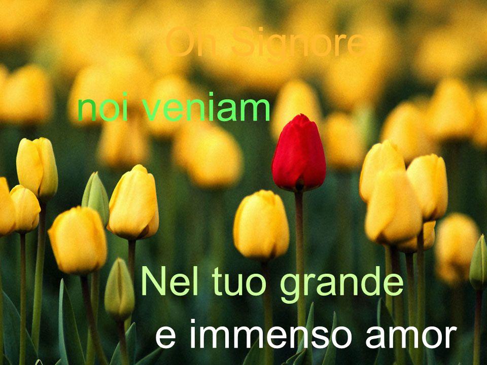 Cantiamo insieme Rit: Eeee… E bello sapere (è bello sapere) Che Tu sei con noi (dentro di noi) Che Tu sei in mezzo a noi (sempre con noi, Gesù).
