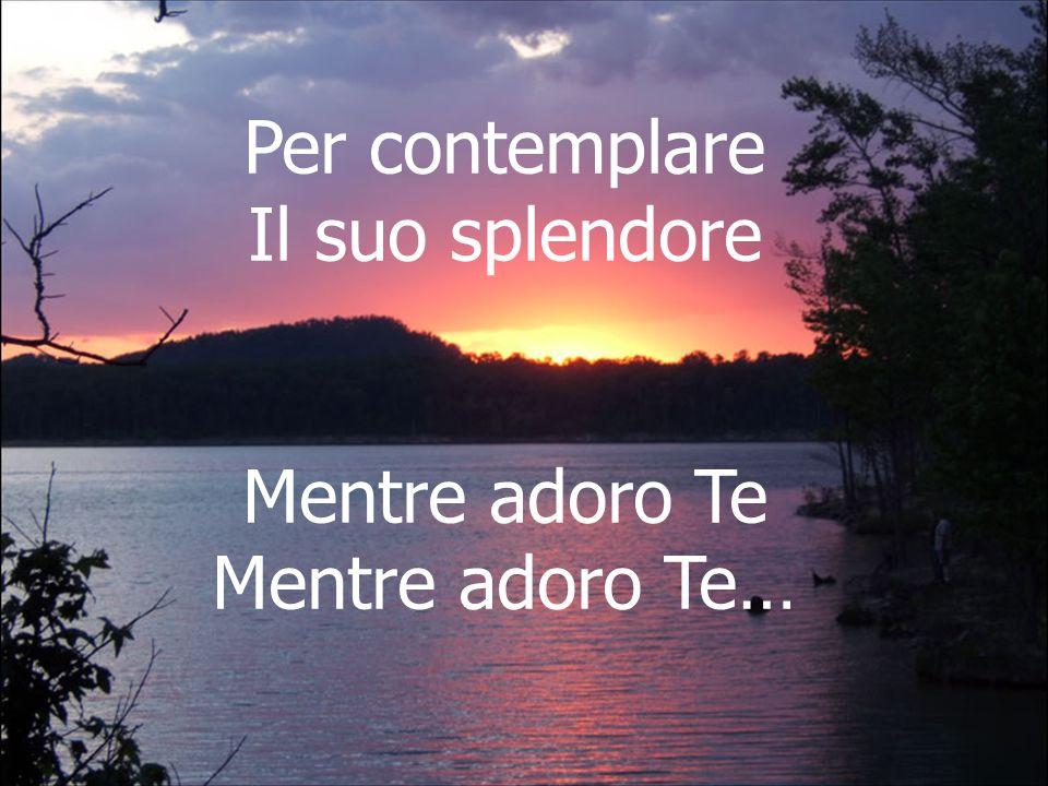 Cantiamo insieme So che mi ascolti quando canto la Tua lode, so che sorridi quando parlo con Te.