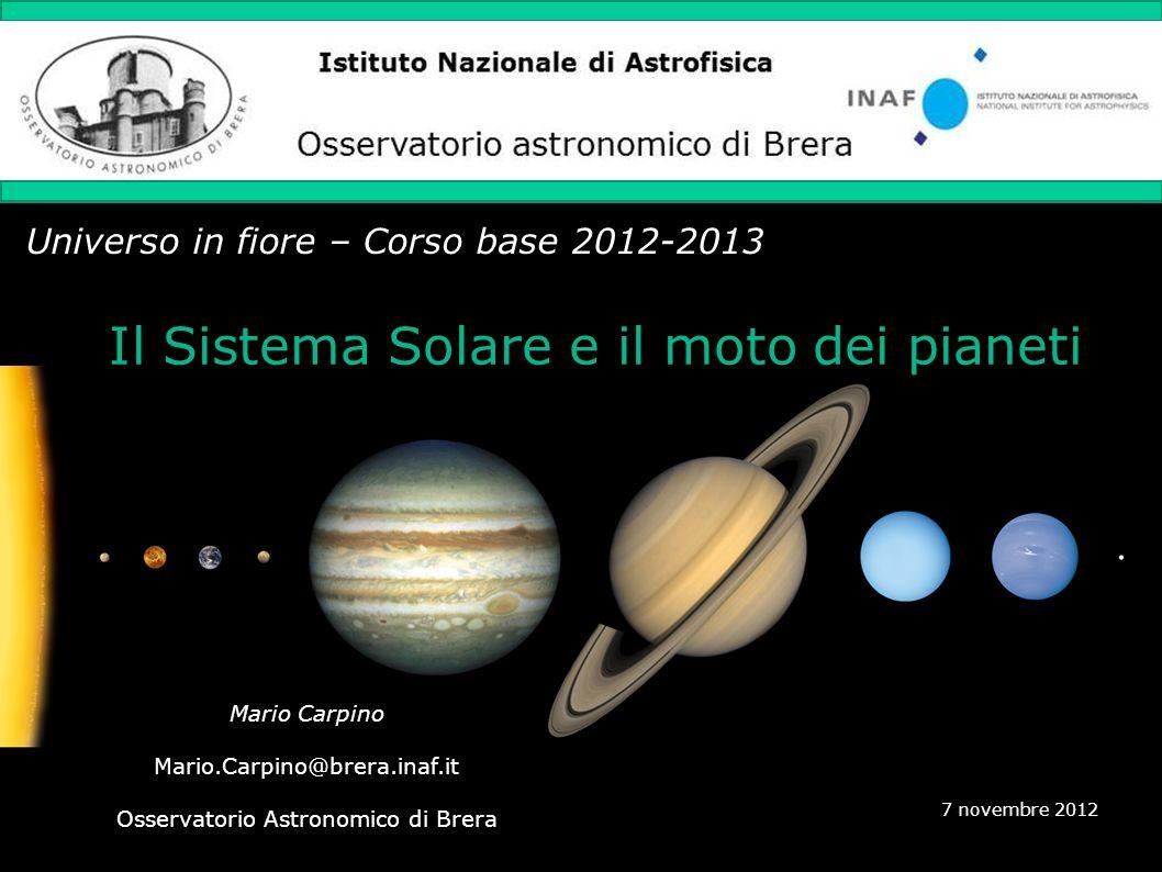 Sommario 1.Panoramica del Sistema Solare 2.