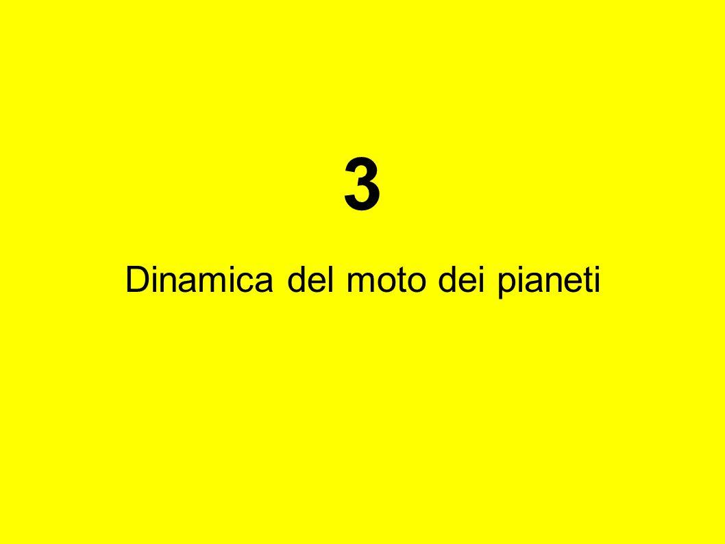 3 Dinamica del moto dei pianeti