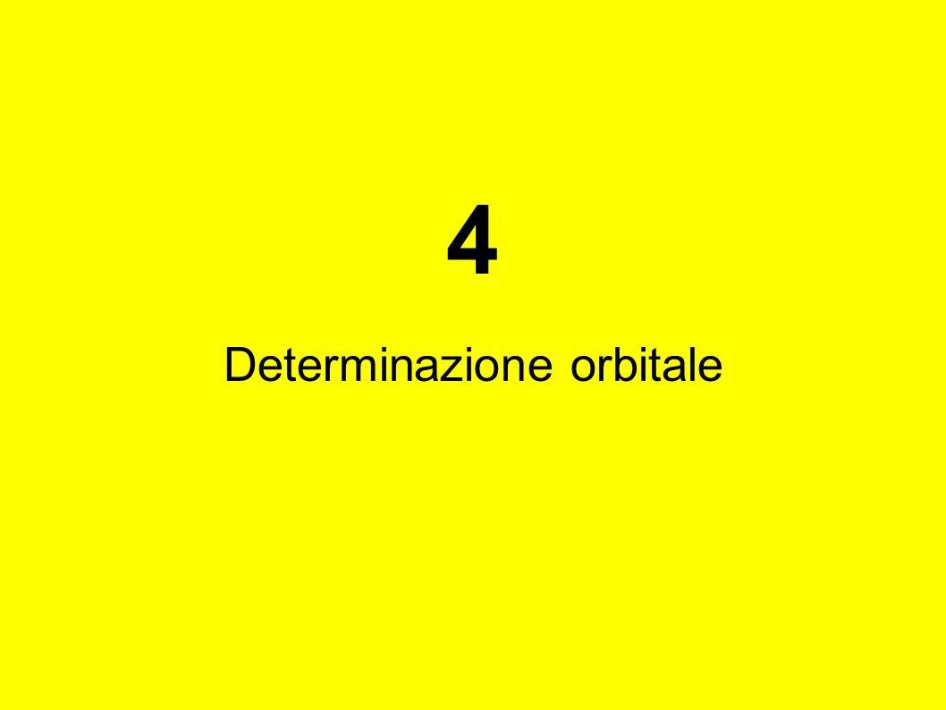4 Determinazione orbitale