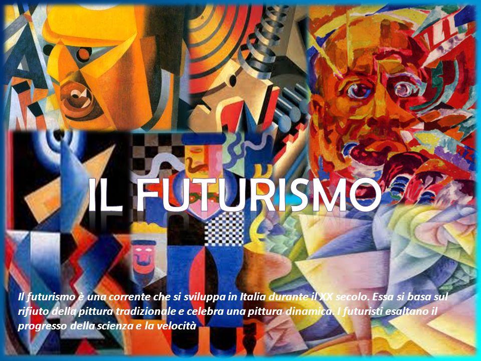 Il futurismo è un movimento culturale e artistico fondato da Filippo Marinetti nel 1909 a cui presero parte musicisti, scrittori, fotografi, cineasti, pittori, scultori e scenografi.