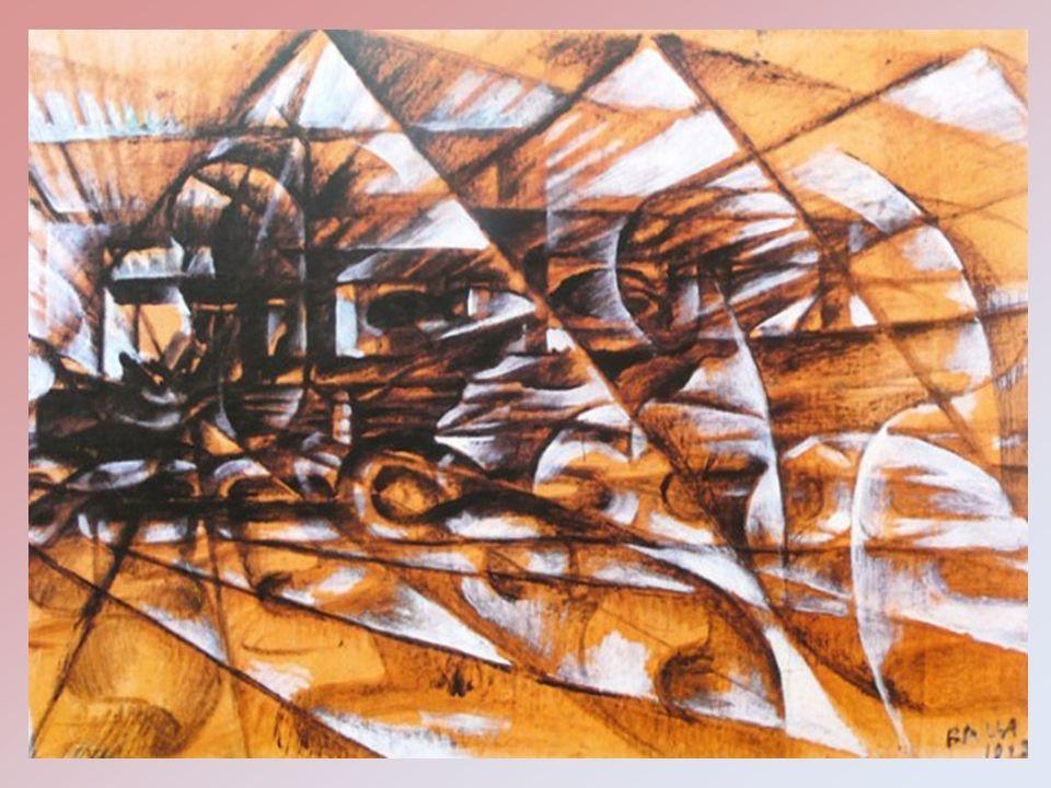 Il dipinto Velocità dautomobile è un olio su tela, che appartiene ad una serie di quadri iniziata dallartista, tra 1913 e il 1914.