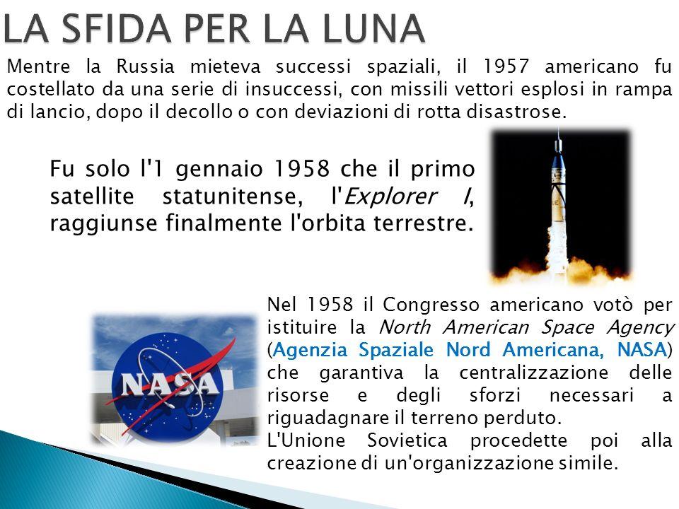 Mentre la Russia mieteva successi spaziali, il 1957 americano fu costellato da una serie di insuccessi, con missili vettori esplosi in rampa di lancio, dopo il decollo o con deviazioni di rotta disastrose.