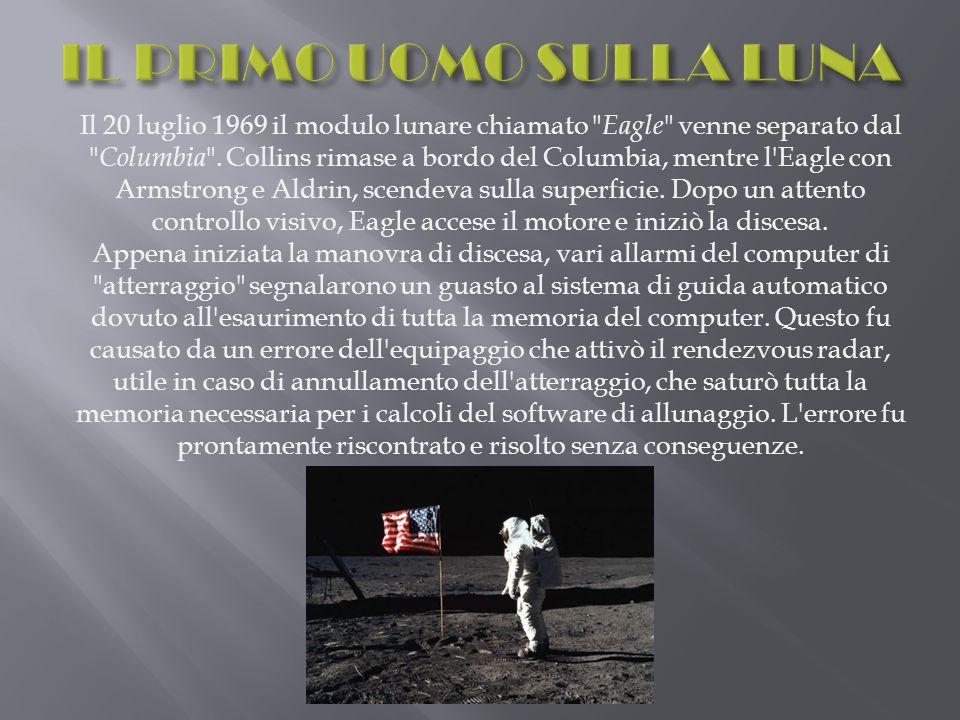Il 20 luglio 1969 il modulo lunare chiamato