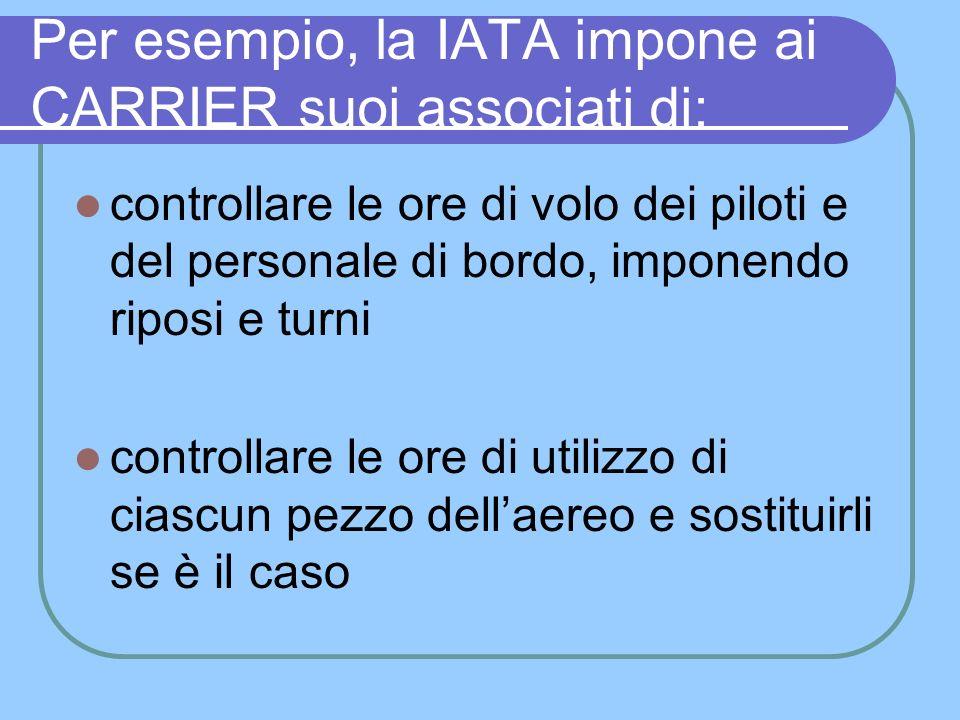 RISULTATI DELLA IATA Lavora come una potente associazione, che regolamenta gran parte del trasporto aereo del mondo.