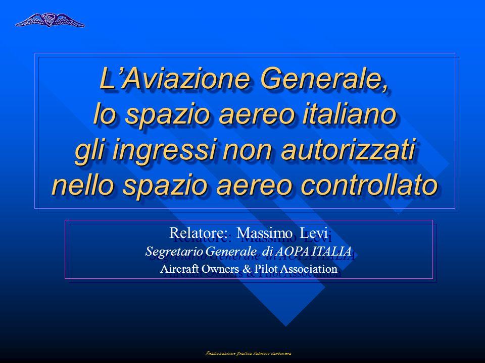 LAviazione Generale, lo spazio aereo italiano gli ingressi non autorizzati nello spazio aereo controllato Relatore: Massimo Levi Segretario Generale d