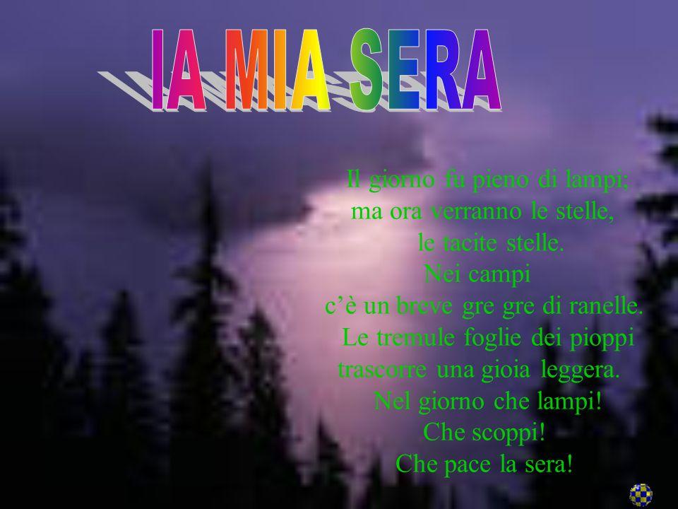 Vita (San Mauro Di Romagna1855-Bologna 1912) poeta. Sullesistenza e sullopera del poeta incise profondamente lassassinio del padre,avvenuto nel 1867.
