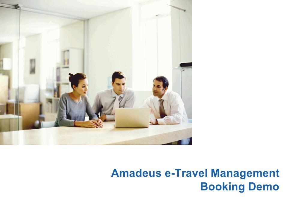 Amadeus e-Travel Management Booking Demo