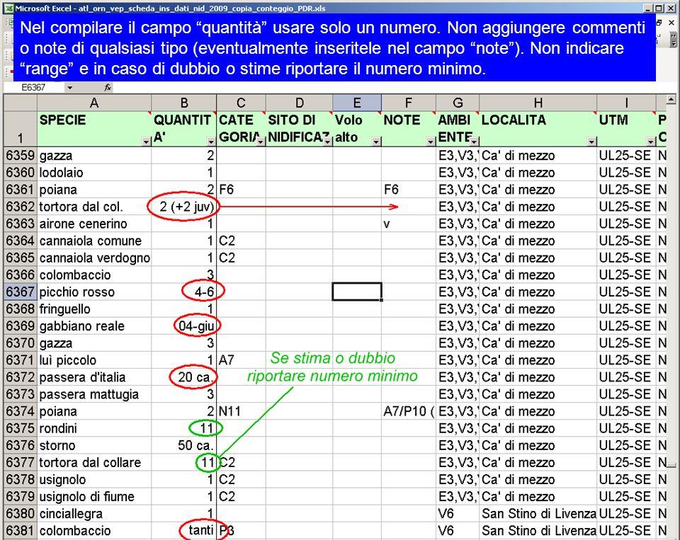 Nel compilare il campo quantità usare solo un numero. Non aggiungere commenti o note di qualsiasi tipo (eventualmente inseritele nel campo note). Non