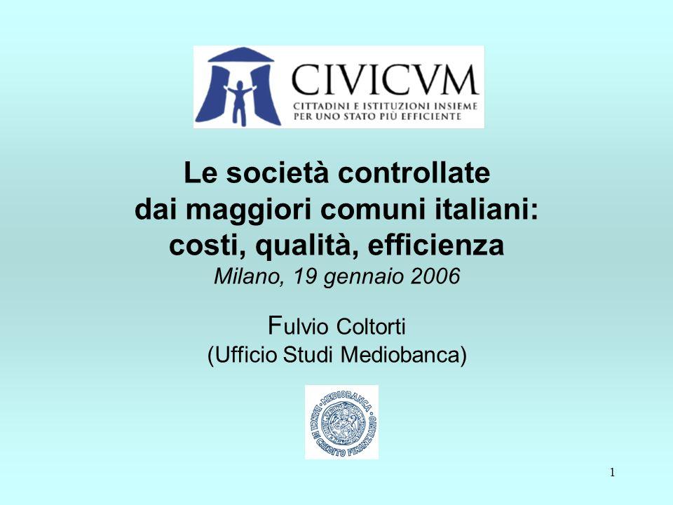 12 Servizi idrici: costi unitari Servizi idrici: costi unitari euro per m 3 di acqua fatturata - 2004